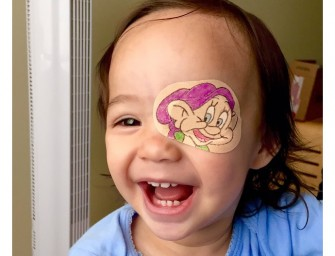 Father creates hilarious new art on daughter's eye patches everyday