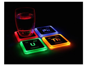 The Radioactive Elements Glowing Coaster Set: Indulge the mad scientist in you