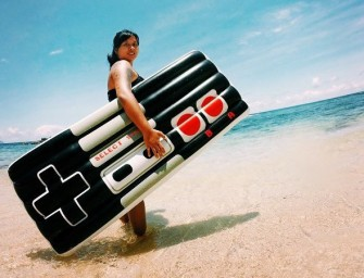 The Retro Gamers Controller Pool Float is the classic NES controller for hot summer days