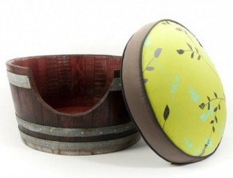 The Wine Barrel Pet Bed: Customized recycled and gorgeous