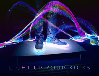 Blinky.Shoes LED Strips will make your shoes reflect your sweet dance moves in bright patterns