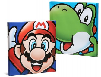 The Mario Brothers Canvas Art: Who says art needs to be stodgy old paintings?
