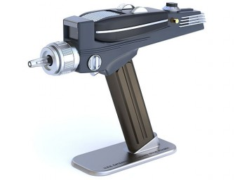 The Exclusive Star Trek Phaser Remote Replica: Shoot commands at your TV with the authority of a Captain