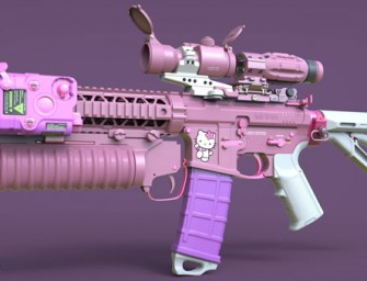 Call of Duty Artist Makes Pink and Purple Hello Kitty Assault Rifle
