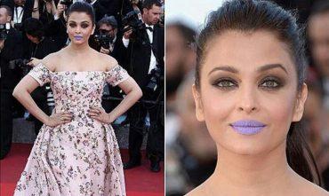 Aishwarya's purple lips stunt
